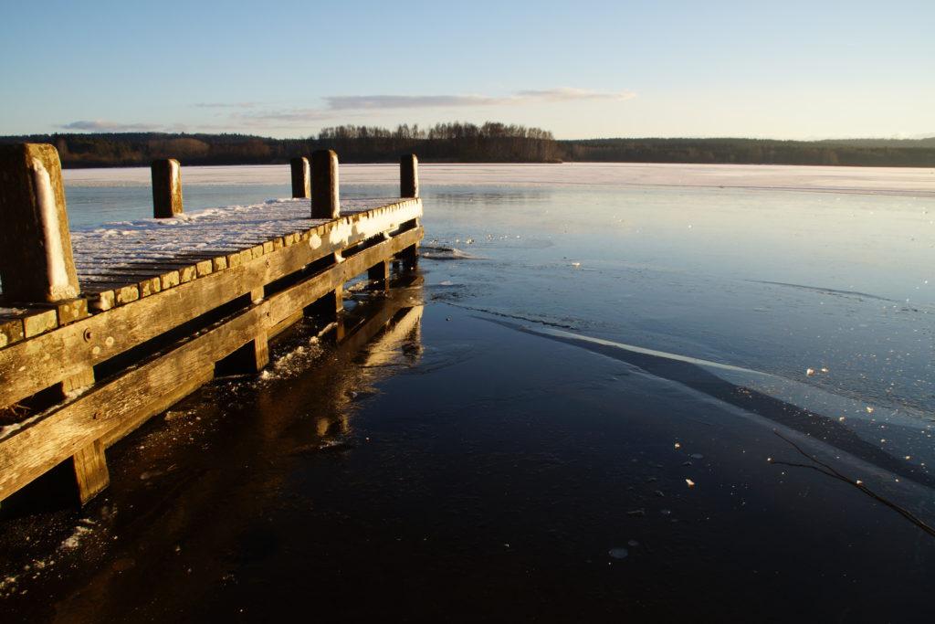 Sieht aus wie Wasser, ist aber Eis!