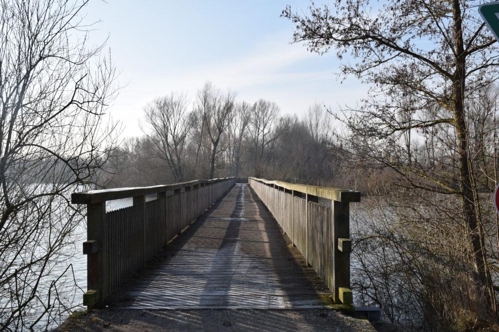 Brücke zur Vogelinsel am Altmühlsee
