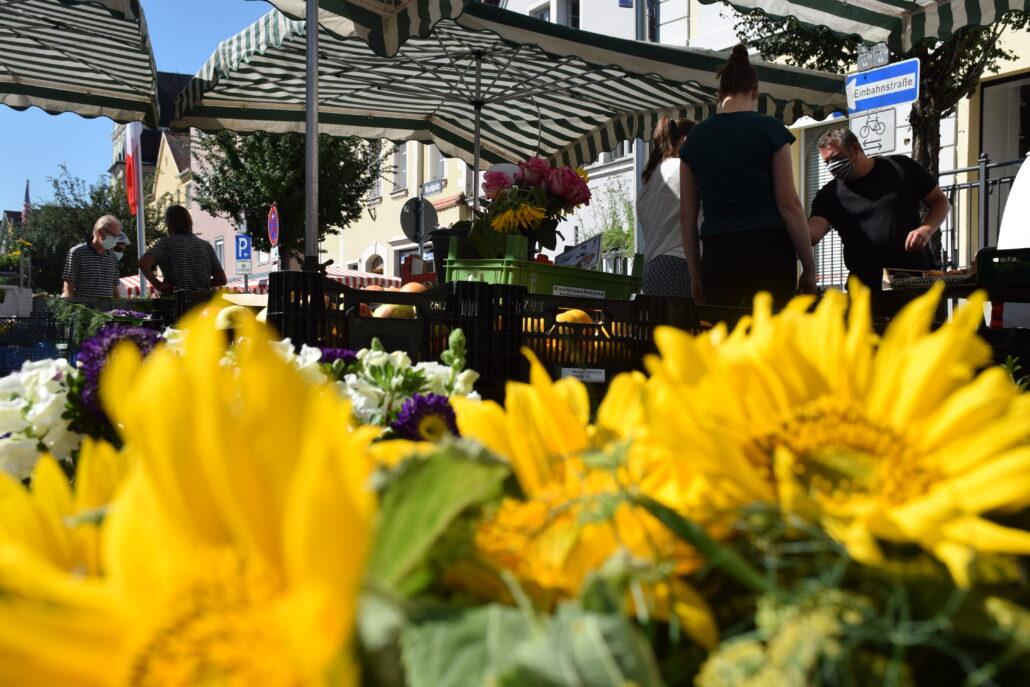 Marktstand der Gärtnerei Grau aus Pleinfeld