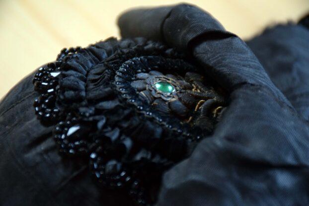 Detail einer Haube einer alten fränkischen Tracht | Foto: Vera Held