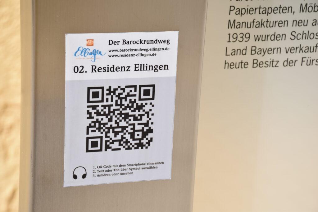 QR-Code für den Barockrundweg Ellingen | Foto: Vera Held